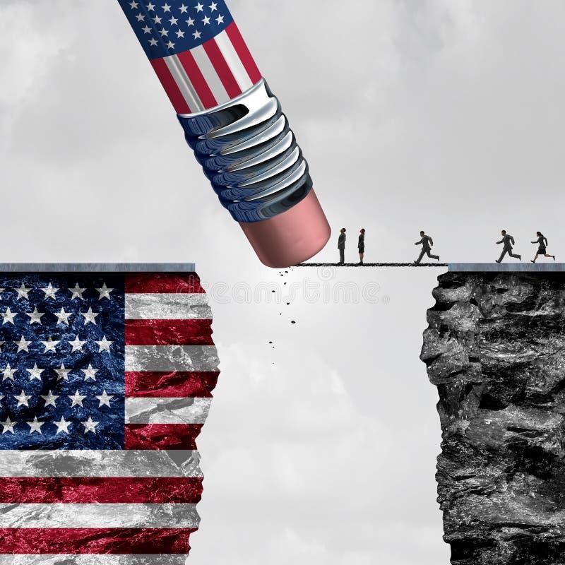 Stany Zjednoczone kontrola graniczna ilustracja wektor