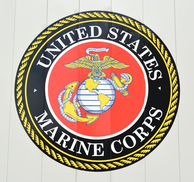 Stany Zjednoczone korpusów piechoty morskiej emblemat obrazy royalty free