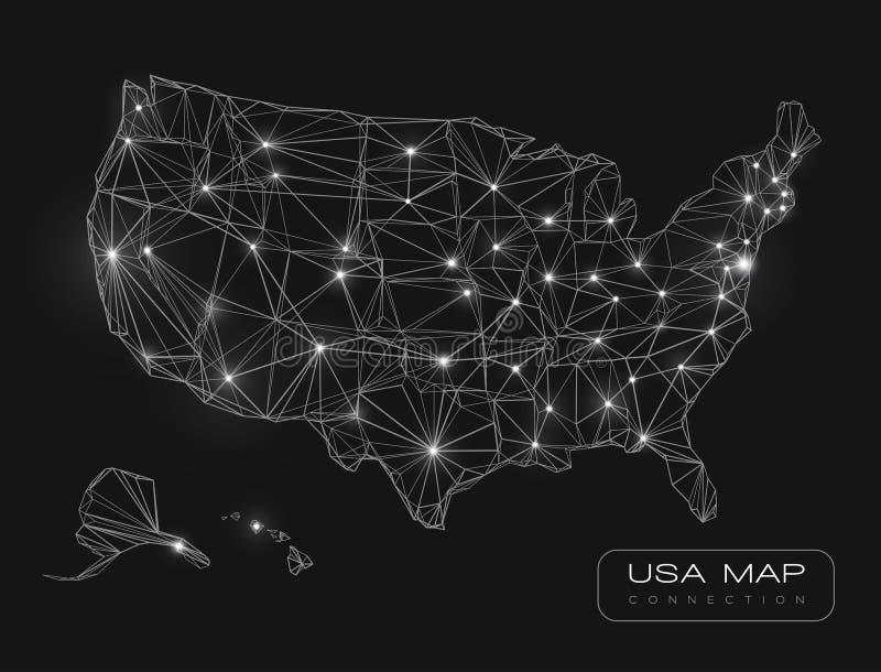 Stany Zjednoczone mapy abstrakcjonistyczny wektorowy tło royalty ilustracja