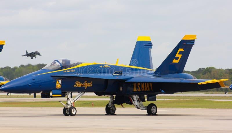 Stany Zjednoczone marynarka wojenna, Błękitny anioła FA-18 Super szerszeń zdjęcia stock