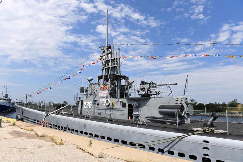 Stany Zjednoczone marynarka wojenna Podwodny USS Silvesides fotografia royalty free
