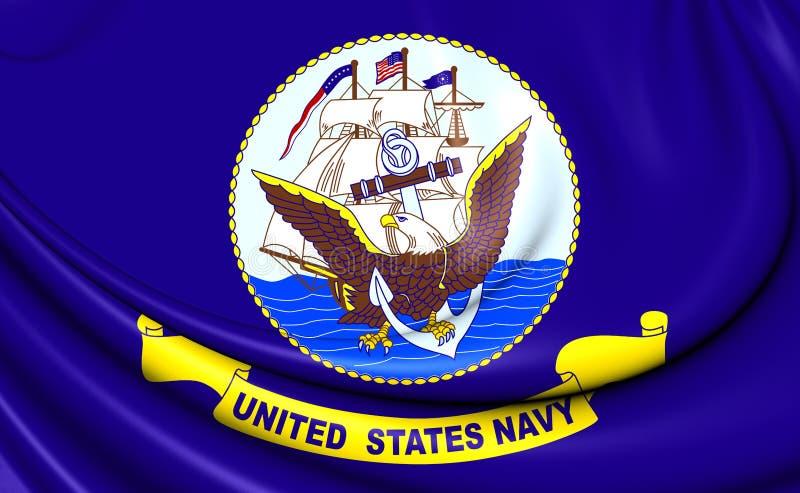 Stany Zjednoczone marynarki wojennej flaga royalty ilustracja