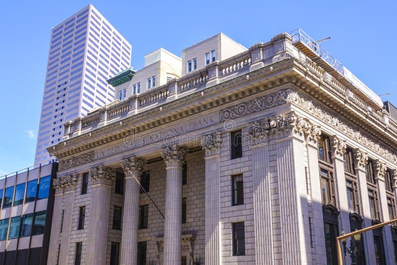 15, 2017 Stany Zjednoczone National Bank w Portland, PORTLAND, OREGON, KWIETNIU -/- zdjęcie stock