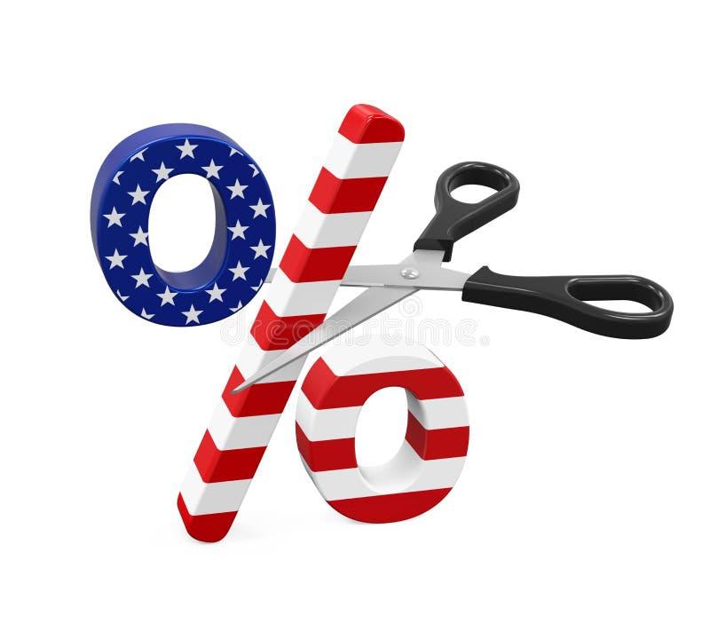 Stany Zjednoczone obniżek podatkowych pojęcie ilustracja wektor