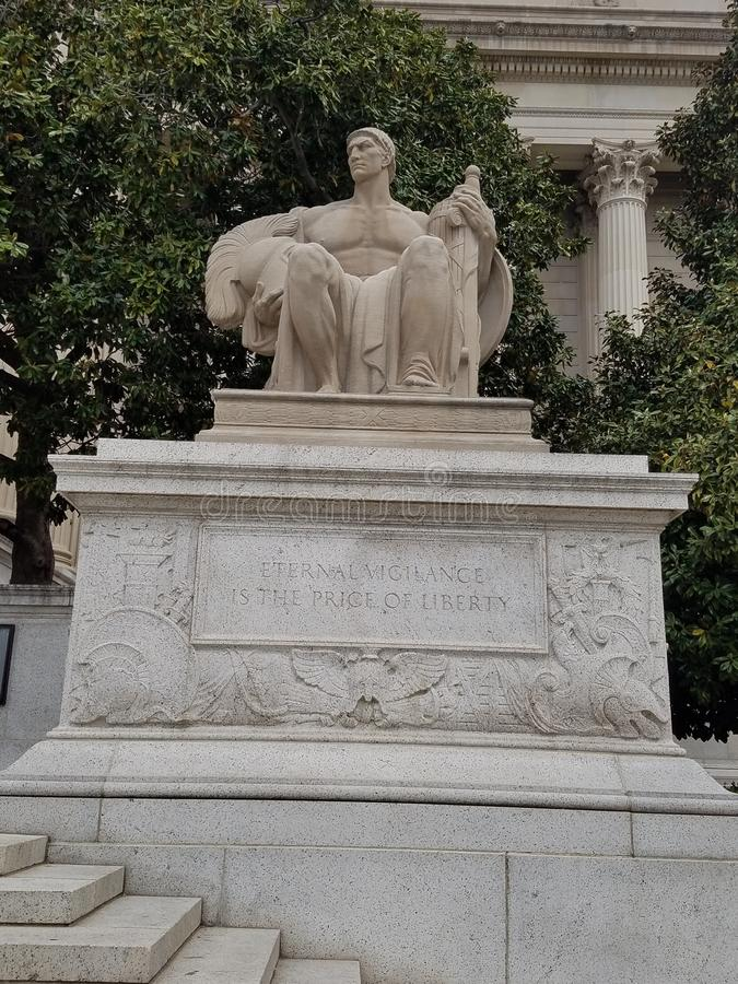 Stany Zjednoczone obywatel Archiwizuje wejściową statuę zdjęcie royalty free