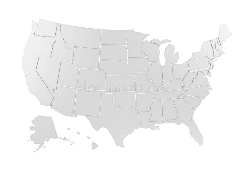 Stany Zjednoczone Odizolowywający Ameryka mapa ilustracja wektor