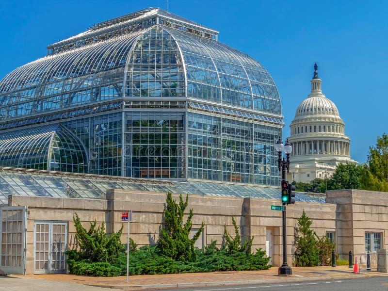 Stany Zjednoczone ogródu botanicznego konserwatorium, washington dc zdjęcie royalty free