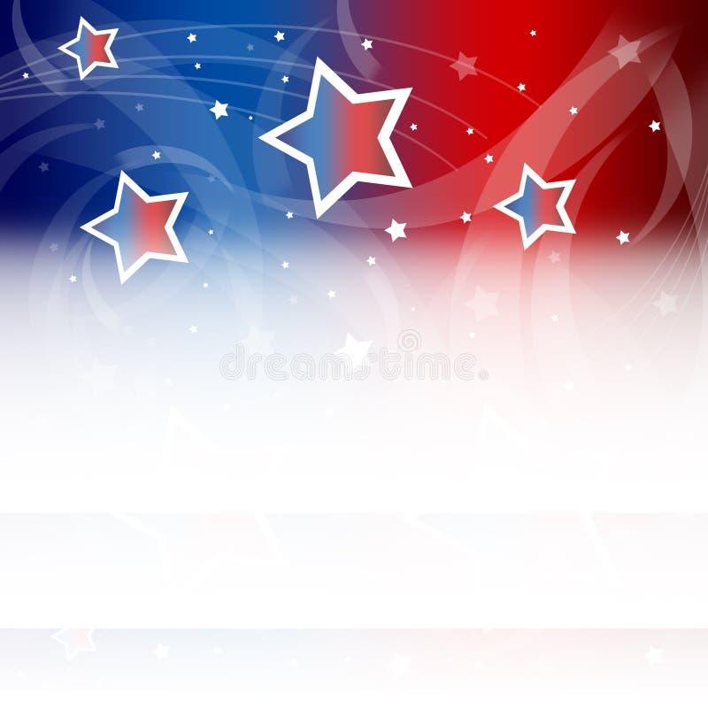 Stany Zjednoczone Patriotyczny tło royalty ilustracja