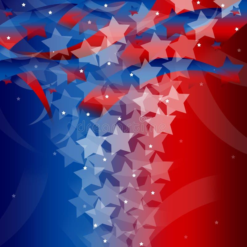 Stany Zjednoczone Patriotyczny tło ilustracja wektor