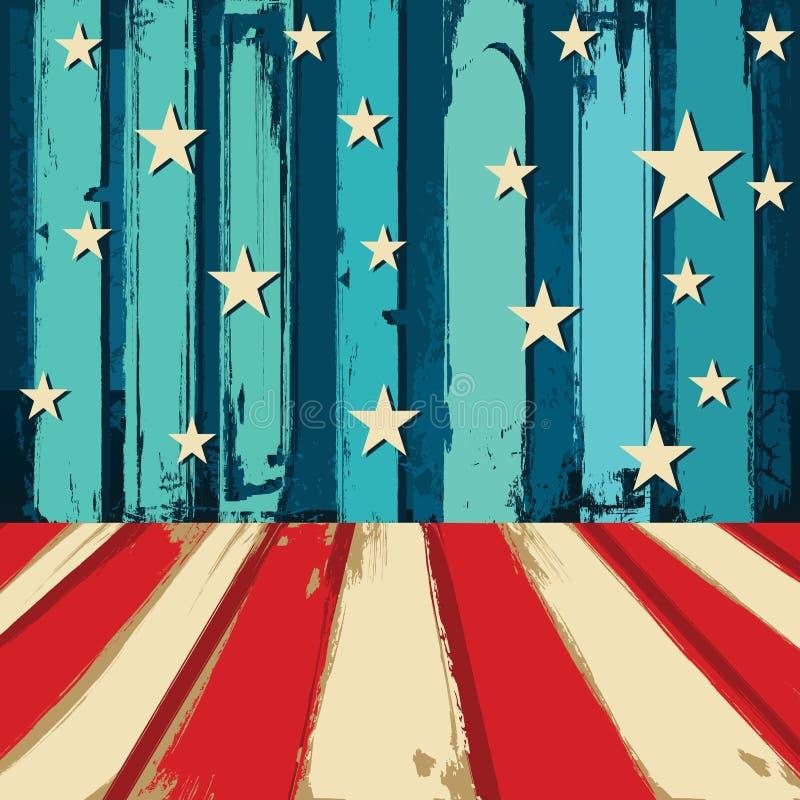 Stany Zjednoczone Patriotyczny tło ilustracji
