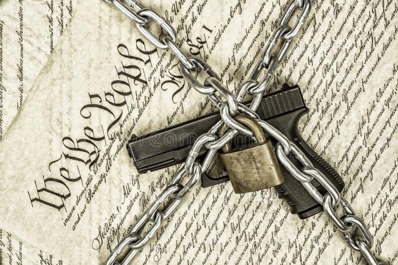 Stany Zjednoczone pistoletu i konstytuci dobra zdjęcia royalty free