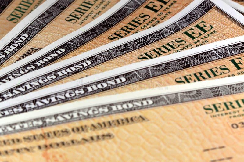 Stany Zjednoczone Savings więzi - serie EE zdjęcie stock