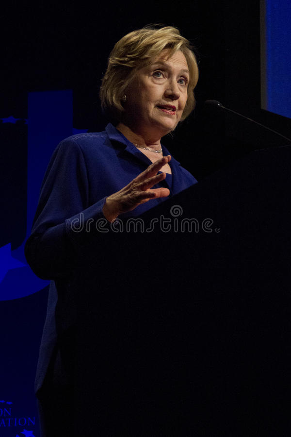 Stany Zjednoczone sekretarka stan Hillary Clinton obraz royalty free