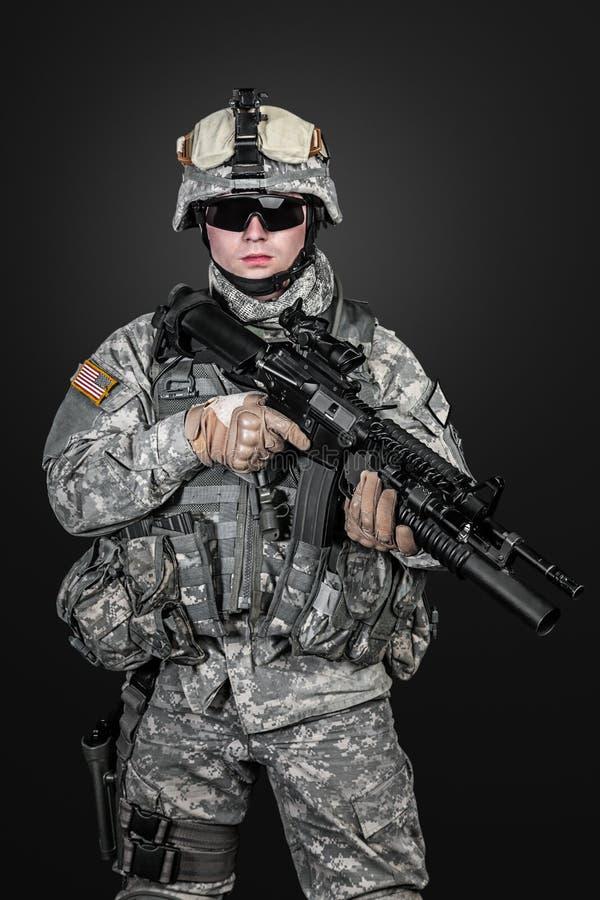 Stany Zjednoczone spadochroniarz zdjęcie royalty free