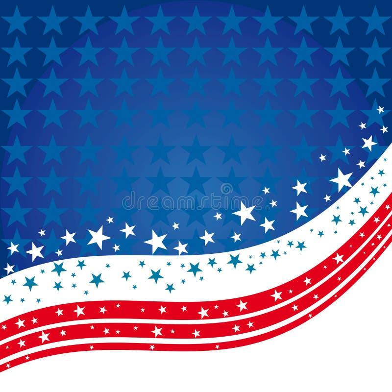 Stany Zjednoczone tła Patriotyczny projekt royalty ilustracja