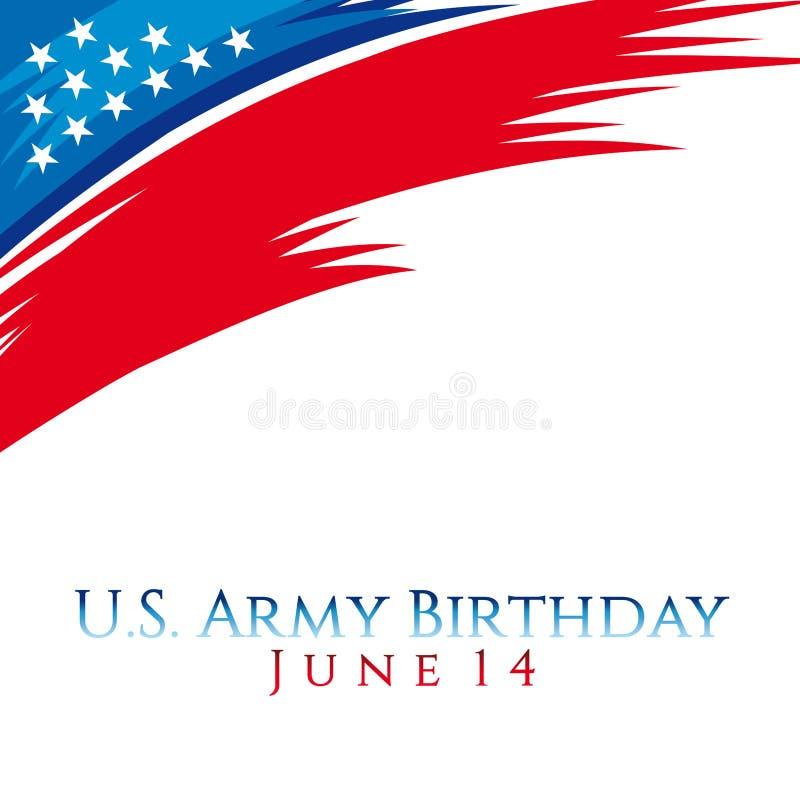 Stany Zjednoczone wojska urodziny ilustracji