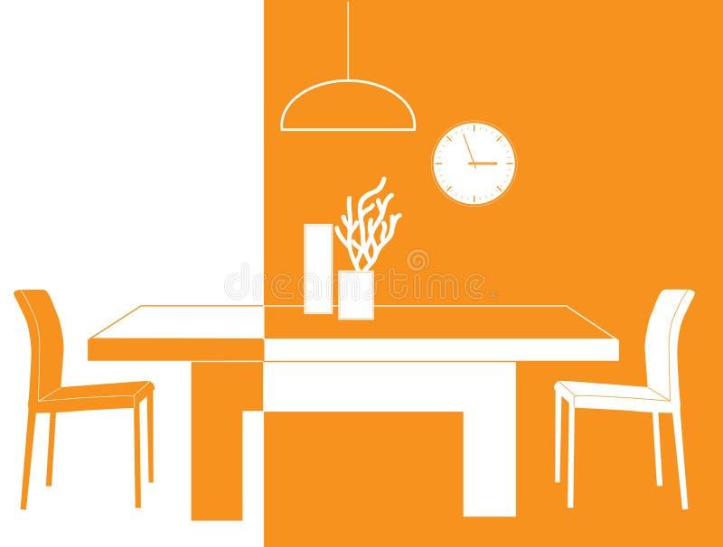stanza arancione illustrazione vettoriale