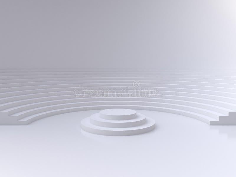 Stanza astratta del cerchio illustrazione di stock