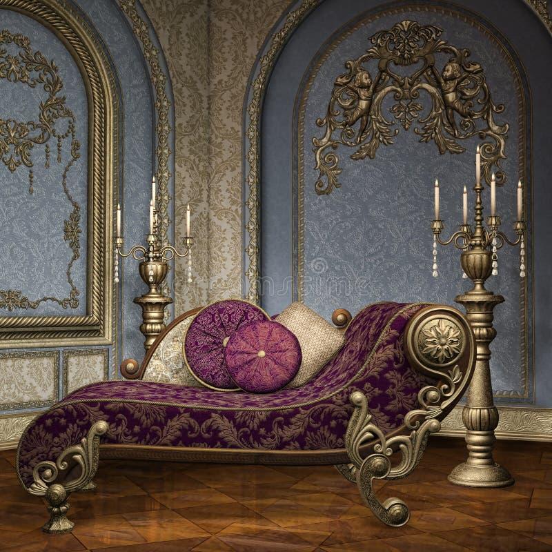 Stanza barrocco del palazzo royalty illustrazione gratis