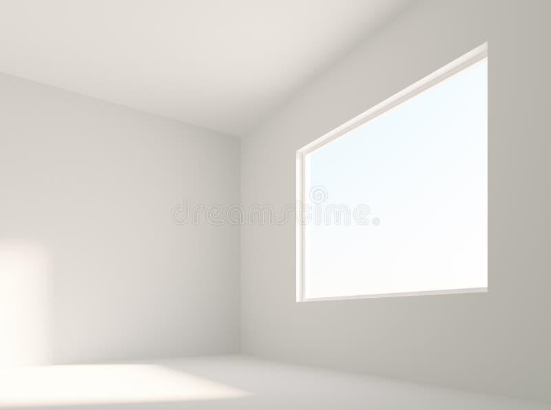Stanza bianca vuota illustrazione di stock