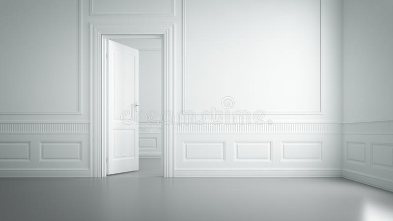 Stanza bianca vuota fotografia stock