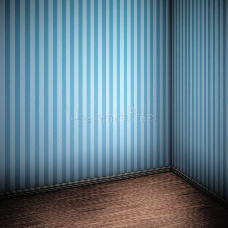 Stanza blu illustrazione vettoriale