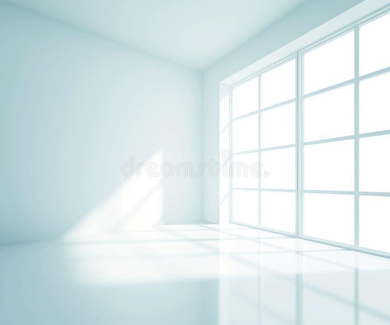 Stanza blu vuota illustrazione vettoriale