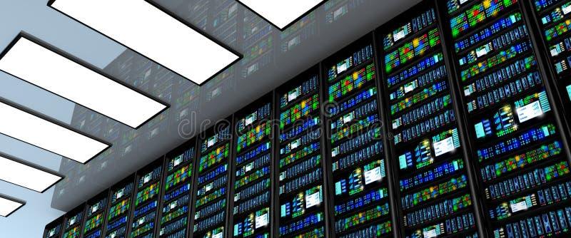 Download Stanza In Centro Dati, Stanza Del Server Fornita Di Server Di Dati Illustrazione di Stock - Illustrazione di internet, lampeggio: 55360772