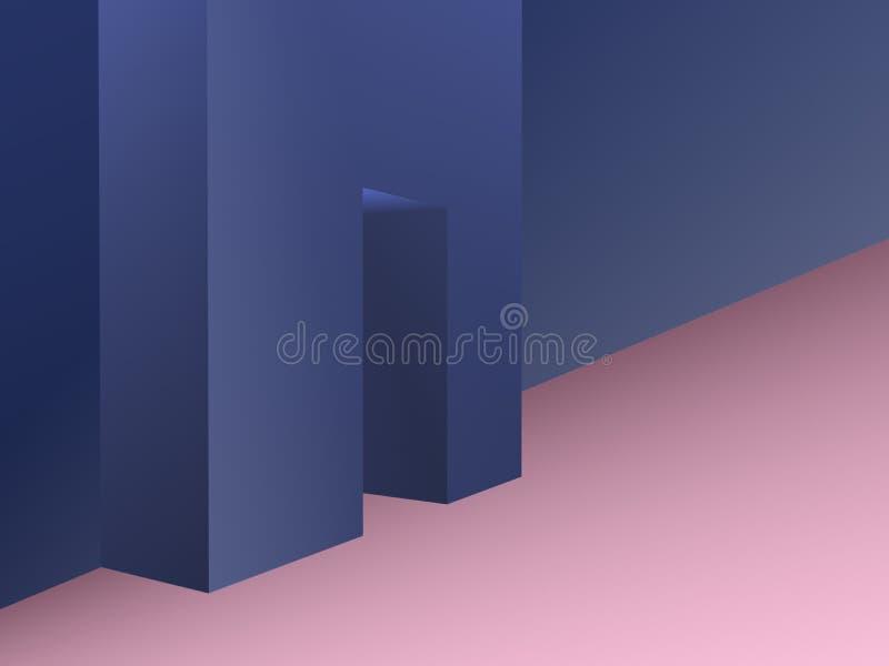 Stanza con l'apertura nell'illustrazione della parete illustrazione di stock