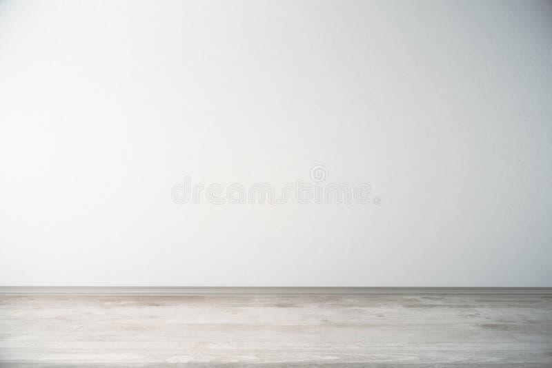 Stanza con la parete leggera ed il pavimento di legno illustrazione vettoriale