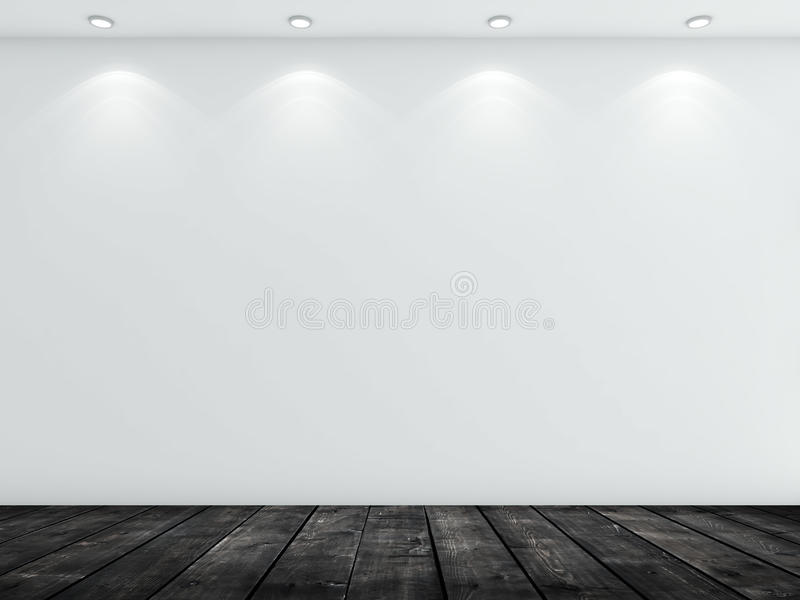 Stanza concreta bianca immagine stock libera da diritti