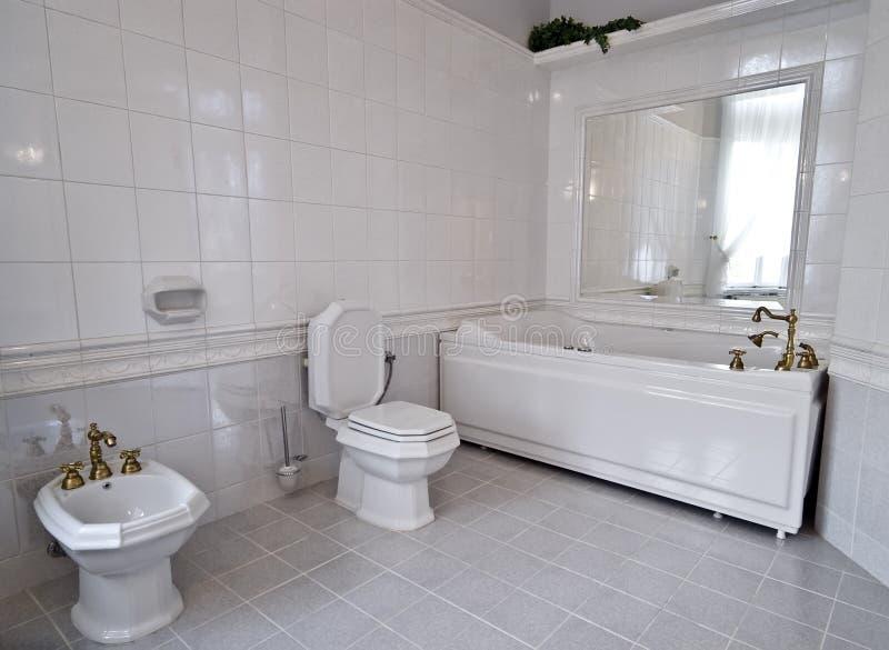Stanza da bagno bianca immagine stock