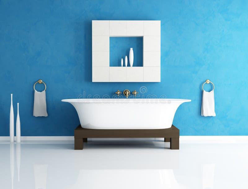 Stanza da bagno blu illustrazione vettoriale