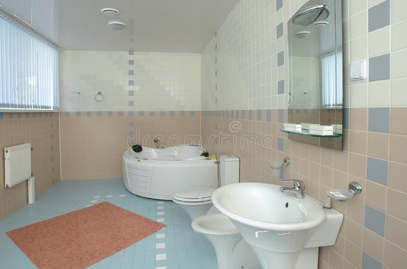Stanza da bagno con una Jacuzzi immagine stock