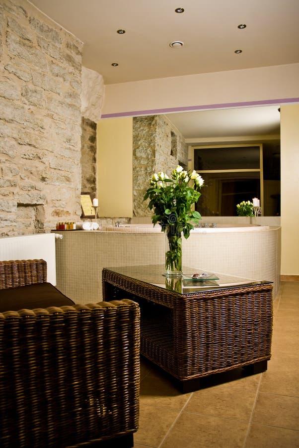 Stanza da bagno dell 39 albergo di lusso fotografia stock for Suite bagno di lusso