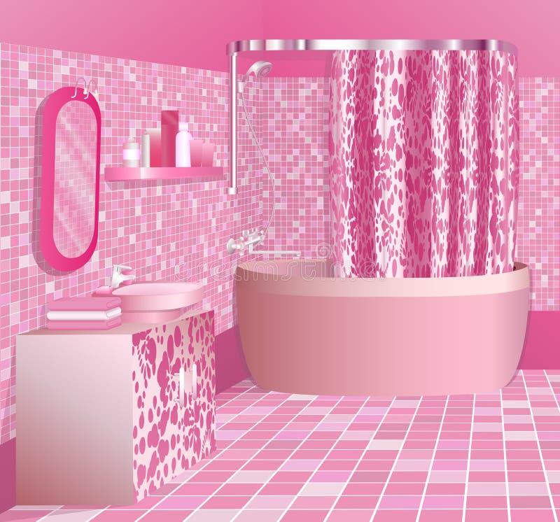 Stanza da bagno dentellare di lusso illustrazione vettoriale