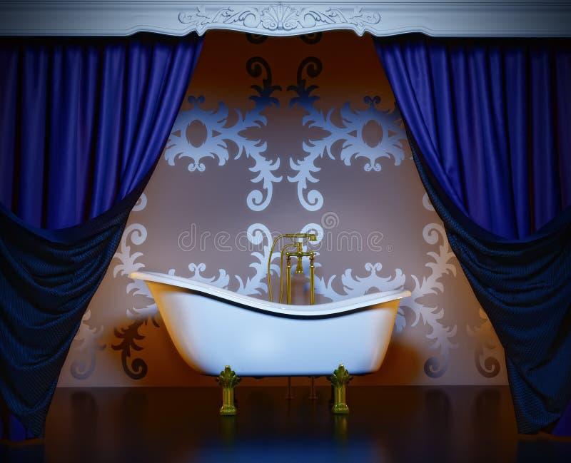 Stanza da bagno di lusso illustrazione di stock