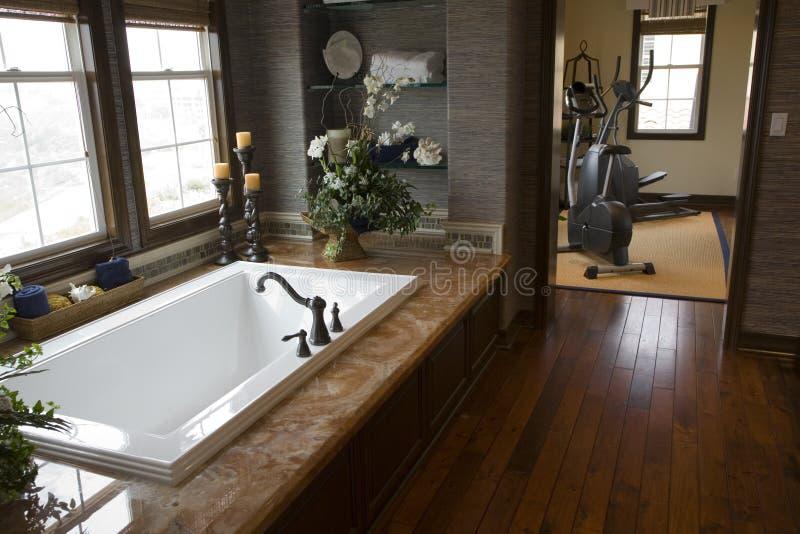 Stanza da bagno domestica di lusso immagine stock for Mobilia domestica