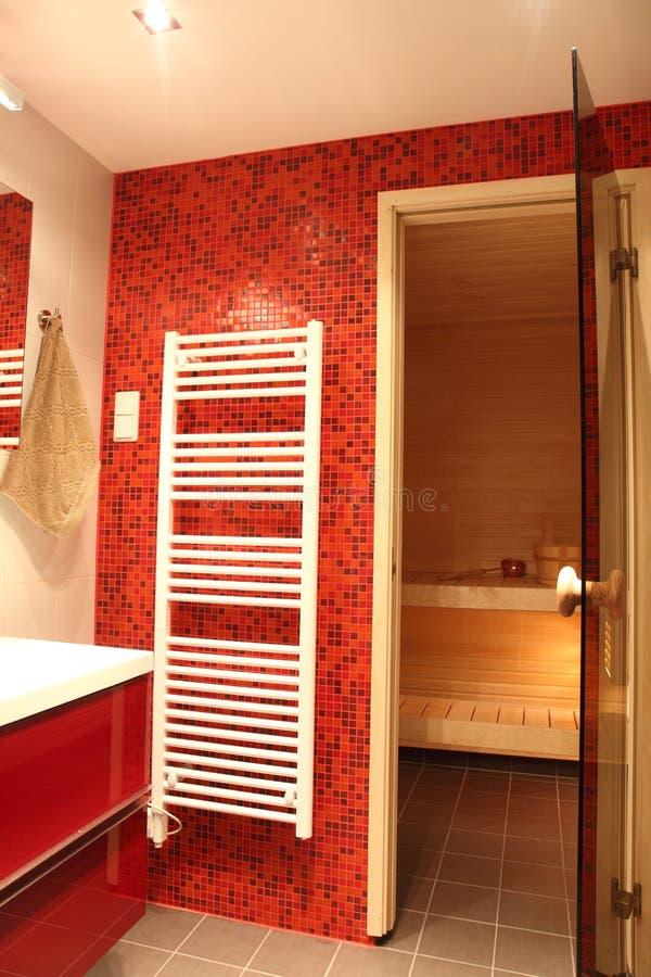 Stanza da bagno finlandese moderna immagine stock immagine di stile stanza 23981455 - Stanza da bagno ...