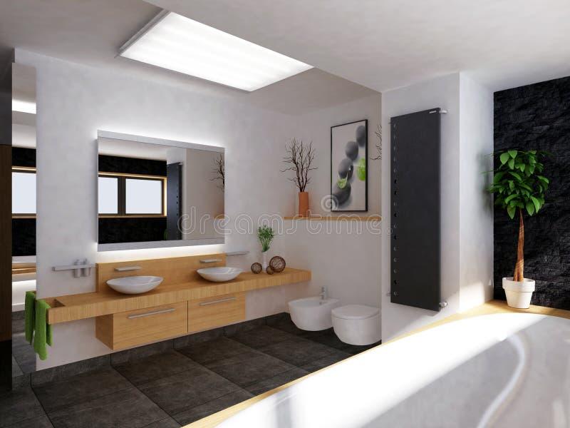 stanza da bagno moderna illustrazione di stock