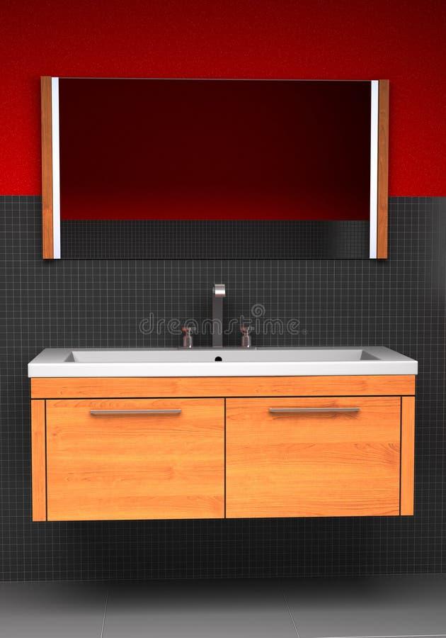 Stanza da bagno moderna illustrazione vettoriale