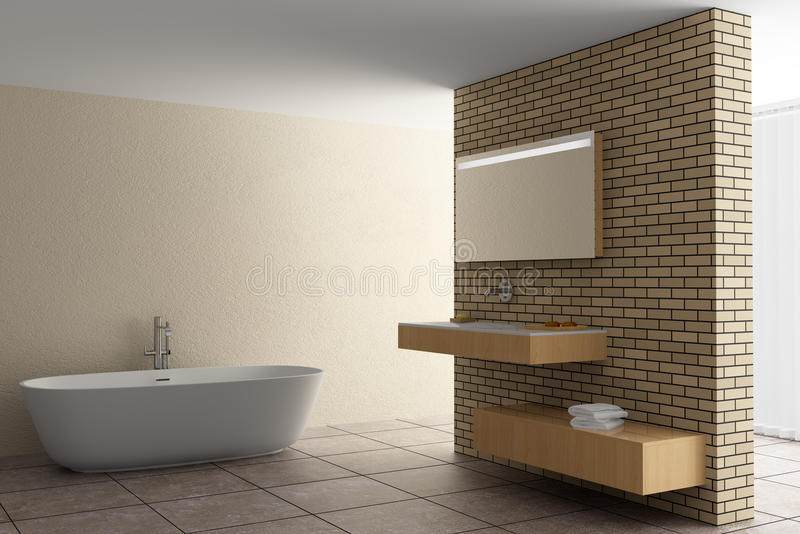 Stanza da bagno moderna con le mattonelle di mosaico rosse for Stanza da pranzo moderna