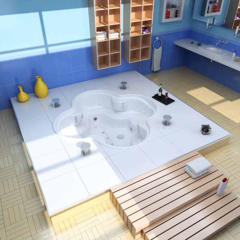 Stanza da bagno moderna di lusso royalty illustrazione gratis