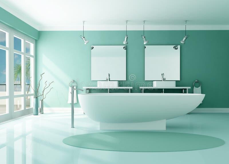 Stanza da bagno moderna di lusso illustrazione di stock for Stanza da pranzo moderna
