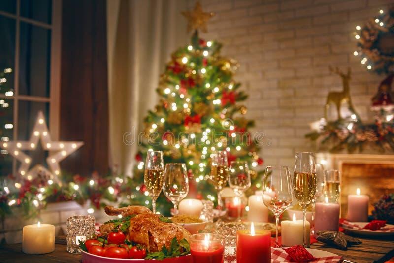 Stanza decorata per il Natale immagine stock libera da diritti