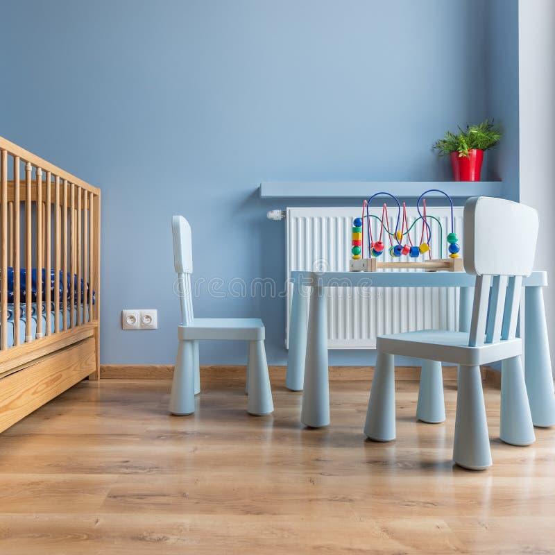 Stanza del bambino blu fotografie stock