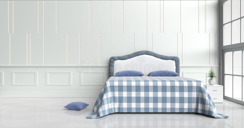 stanza del letto nel giorno felice fotografia stock libera da diritti