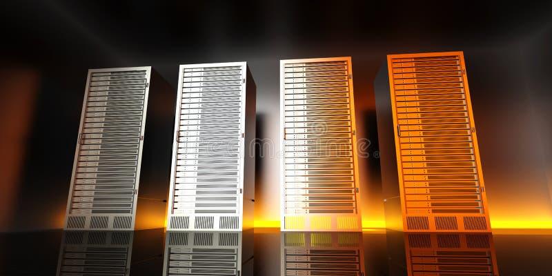 Stanza del server illustrazione di stock