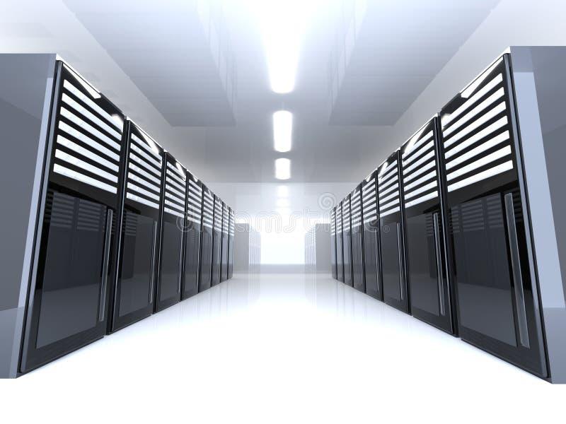 Stanza del server - grandangolare illustrazione vettoriale