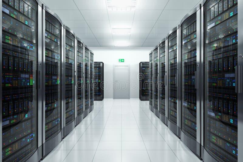 Stanza del server nel datacenter illustrazione di stock